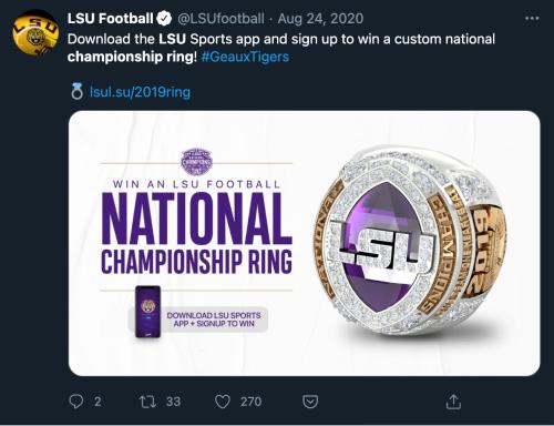 LSU-giveaway-tweet 1