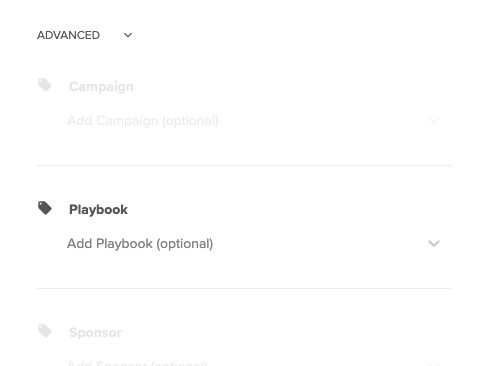 Playbook Tracking